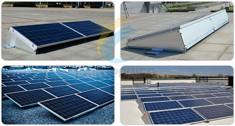 Flat Roof Ballasted Solar Mounting