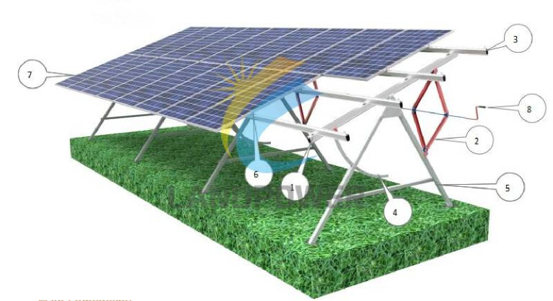 adjustable solar ground mounting