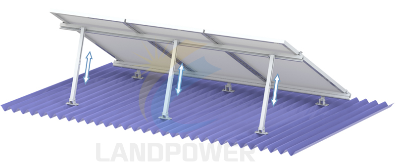 angle adjustable roof mounting